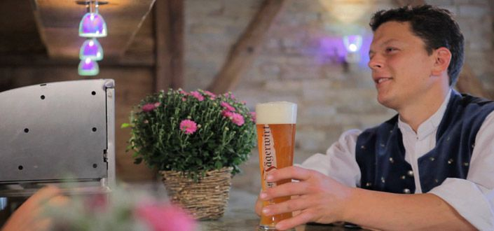 Enjoy a nice Bavarian beer at our bar